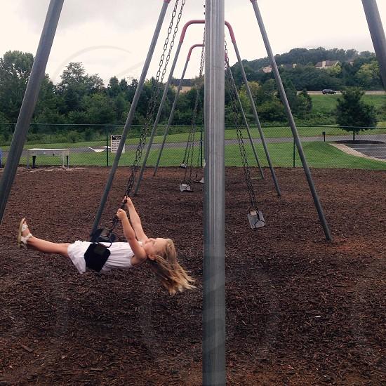 girl on swing photo