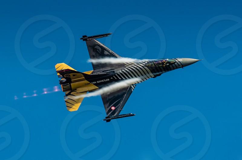 Turkish F-16 Falcon. Soloturk demo team. photo