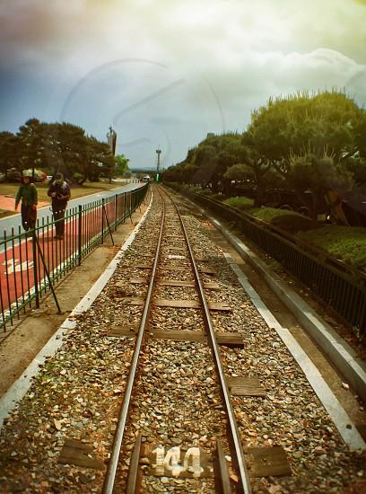 Rail train rail small railparkoutdoor photo
