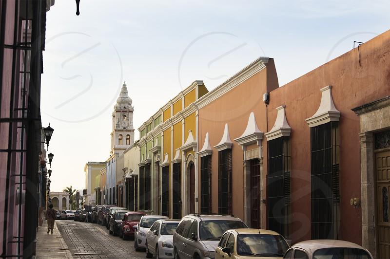 Calle colonial en Campeche México photo