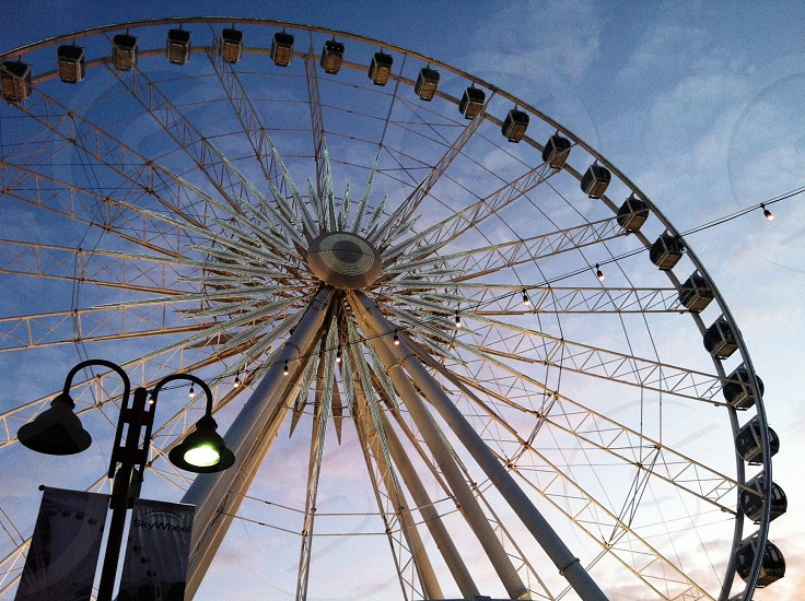 low-angle photography of Ferris wheel photo
