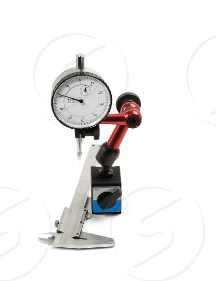 precision mesurement instrument isolated on white background photo