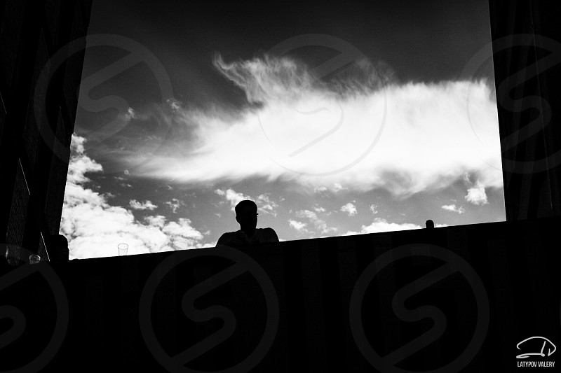 Bristol artfair blackandwhite shadows space uk england photo