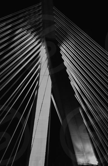 Zakim Bridge Boston Ma Bridge Massachusetts B&W Black & White photo
