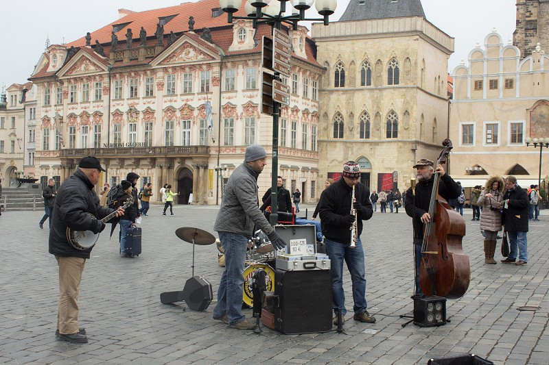 Little Orchestra in Plaza Venceslao (Prague Czech Republic) photo