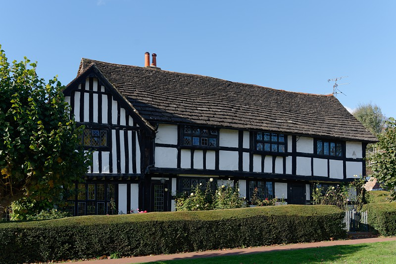 LINDFIELD WEST SUSSEX/UK -OCTOBER 29 : View of a tudor style house  in the village of Lindfield West Sussex on October 29 2018 photo