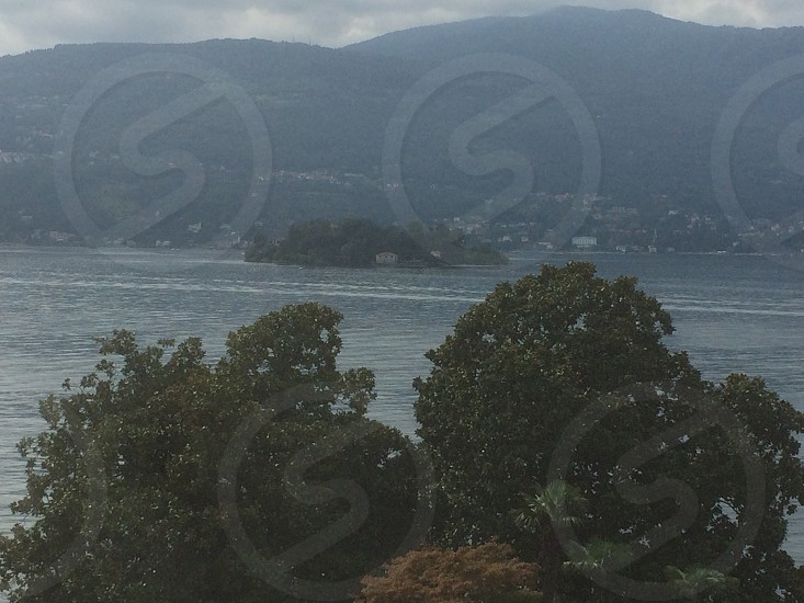 beautiful view of the island mother in Italy Lake Maggiore photo