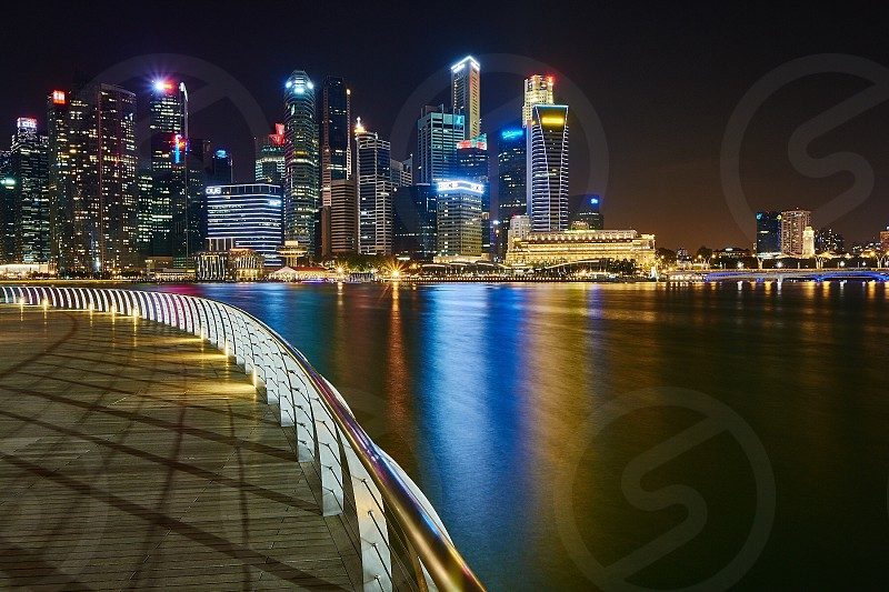 View of Singapore Skyscrapers photo