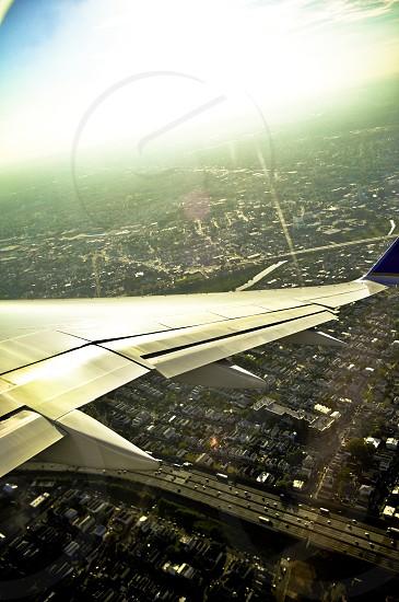 beige airplane wings photo