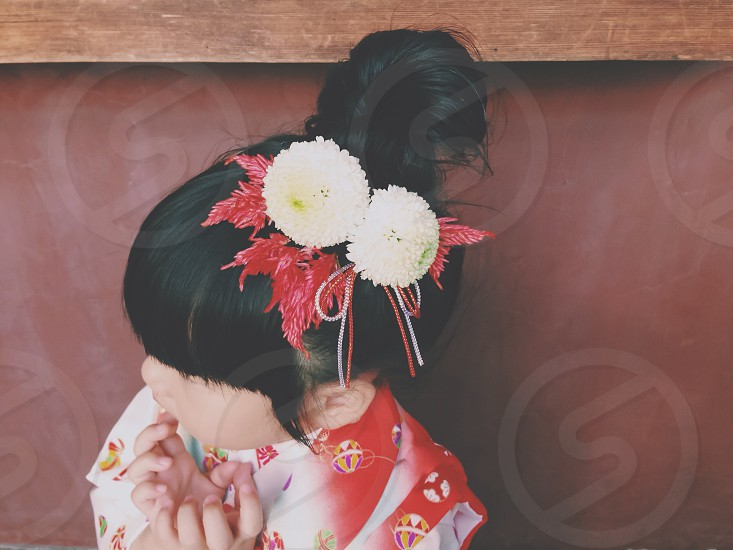 hair accessories.hand made.flower.girl photo