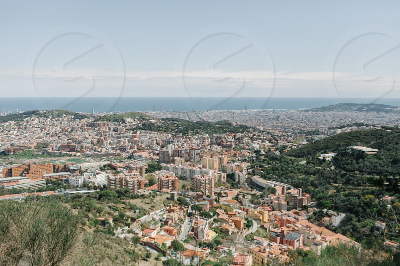 top view photography of city at daytime photo