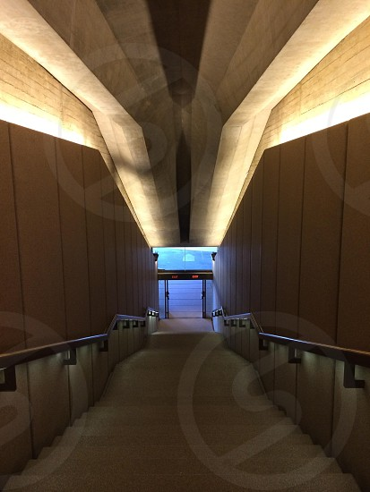 view of the white concrete stairways photo