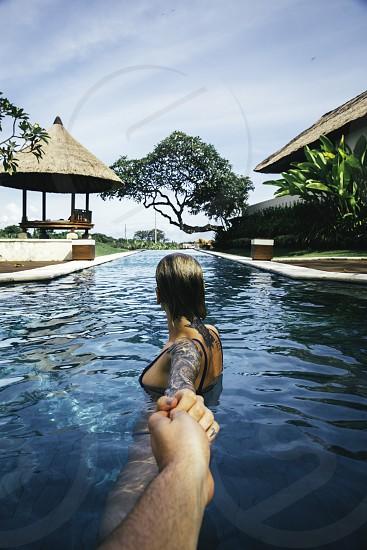 Bali pool follow me to photo