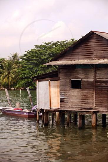 the village of Palau Ubin Island on the coast of the city of Singapore in Southeastasia. photo