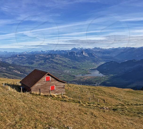 Switzerland mountains mountain outdoor outside Europe  photo