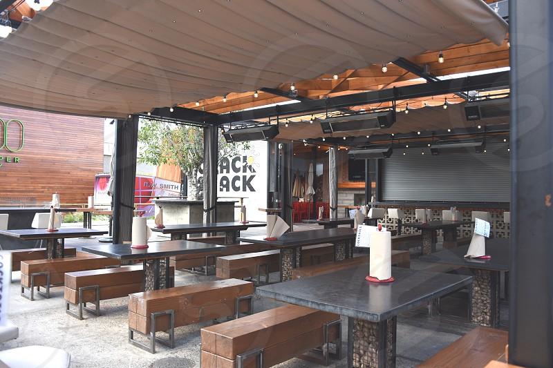 interior of resto bar  at daytime photo