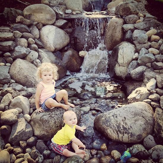 Summer time. Backyard ponds. Our escape. photo