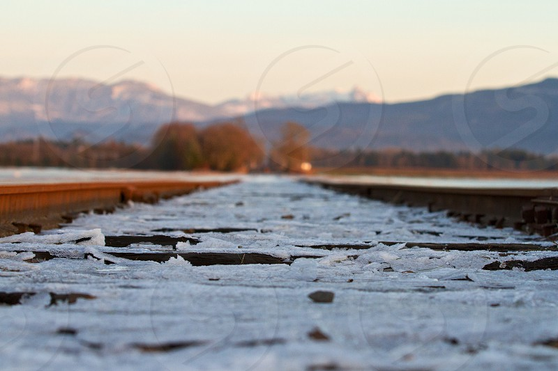 Railroad ice photo