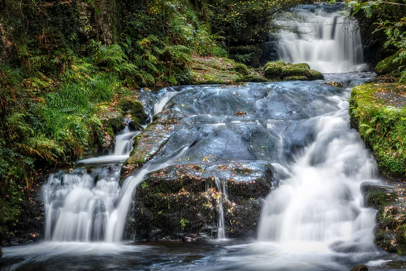 Waterfall at the East Lyn River photo