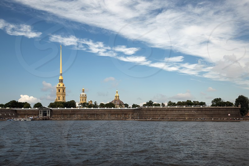 Peter and Paul fortress . View of the Neva river . 30.07.2017 photo