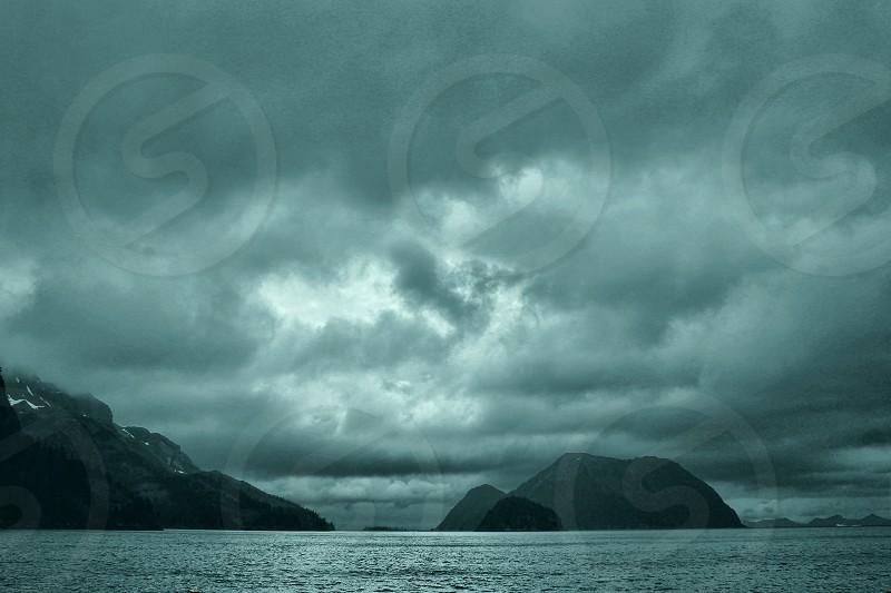 Resurrection Bay under cloudy skies photo