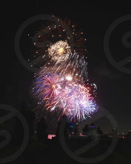 4th of July fireworks show magic island Honolulu Hawaii 2017 photo