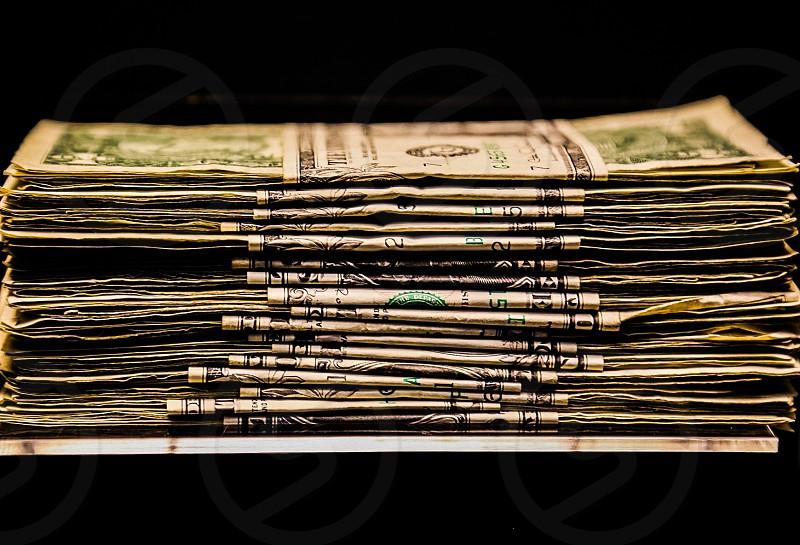 bundles of u.s dollar bill photo