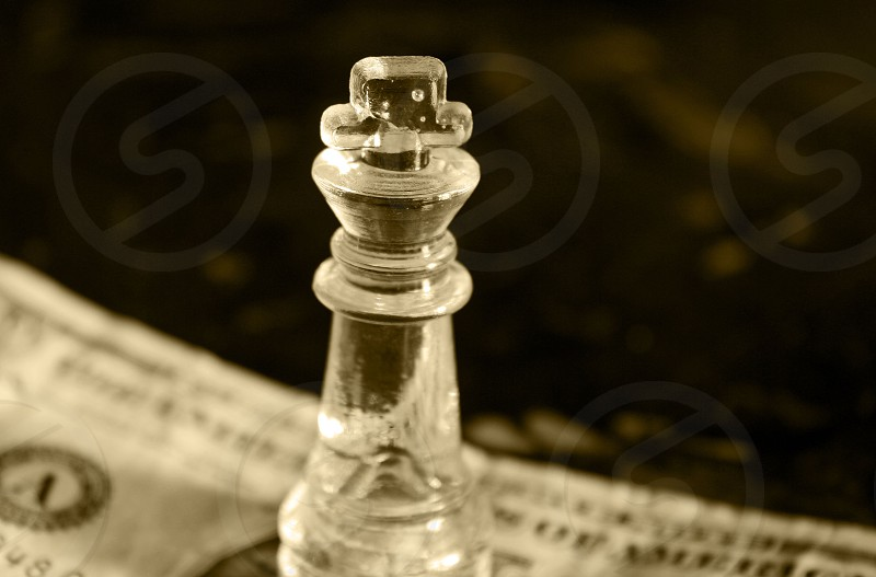 chess piece king dollar money photo