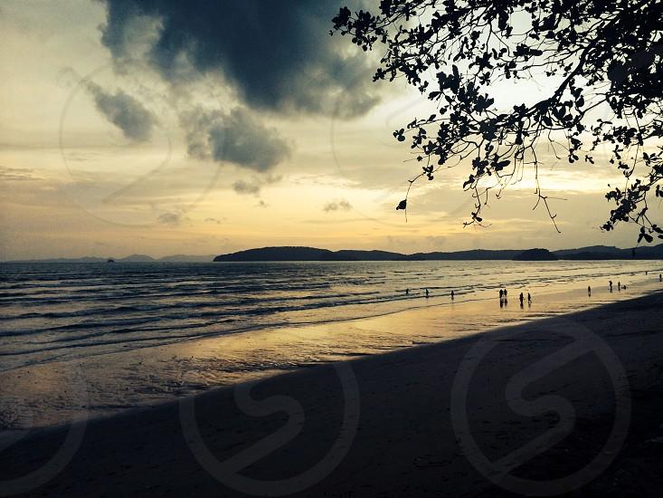 Sunset Thailand. Beach.  photo