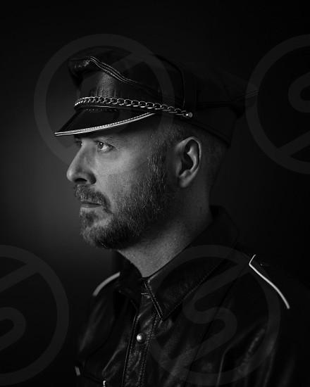portrait photography: leather man photo
