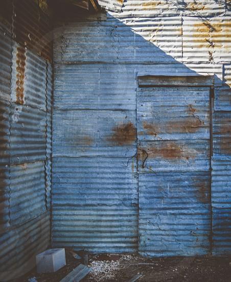 rusty door to old barn photo