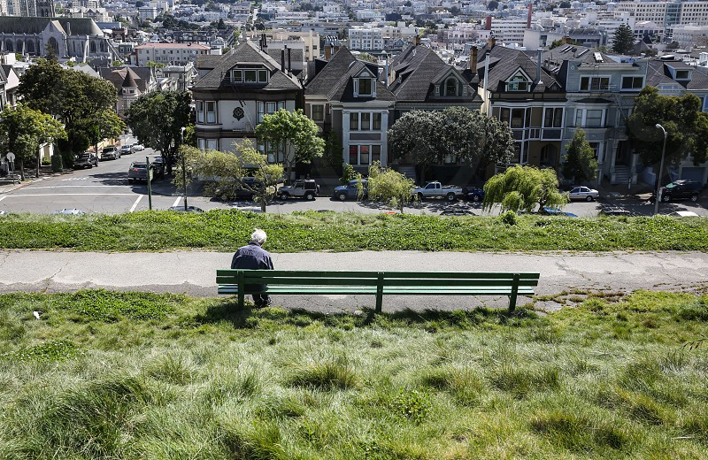 Stranger Alta Vista Park San Francisco  photo