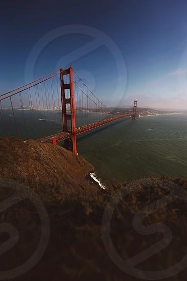 high ground view of golden gate bridge photo