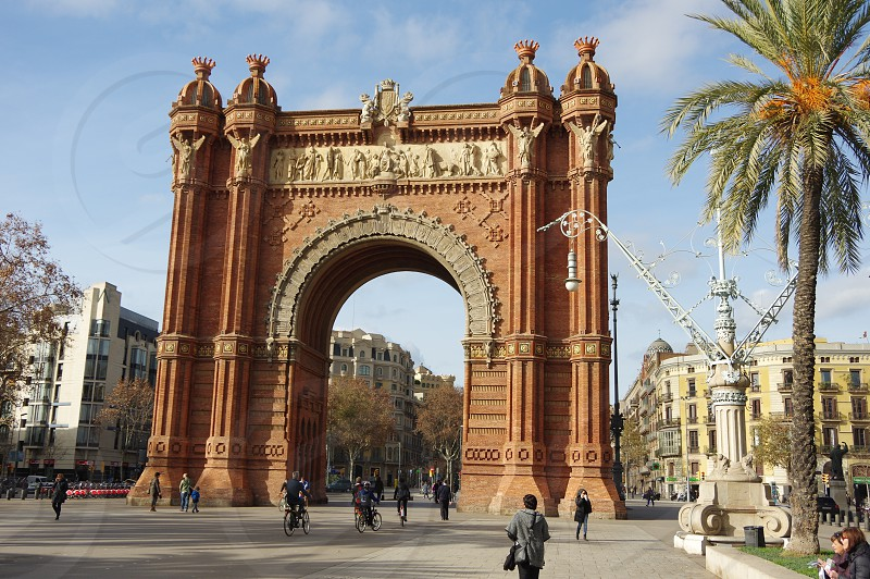 Arc de Triomph arc of triumph Barcelona Spain arc photo