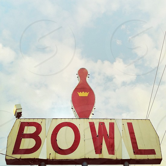 """Strike King (Out)"" (vintage bowling alley sign stripped of its neon tubing) photo"