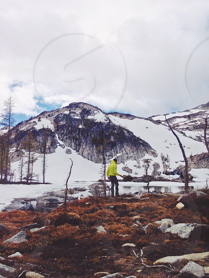Mountaineering Hiking Climb Outdoors Adventure Landscape. photo