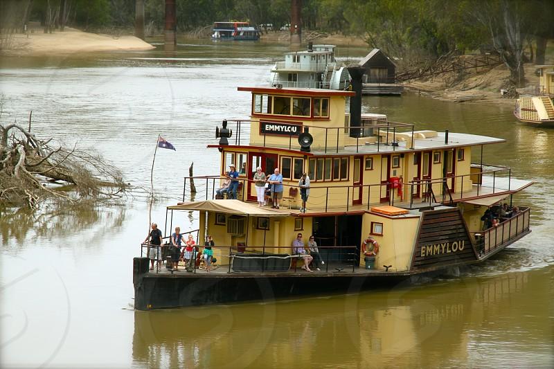 The Port of Echuca on the Murray River in Victoria Australia. photo