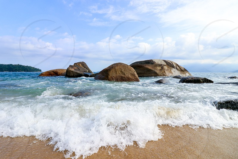 morning in rocky beach photo