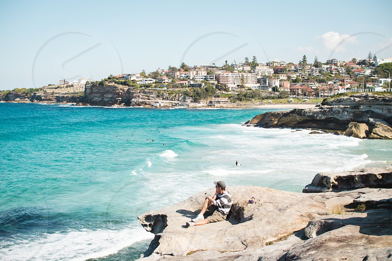 Sydney Australia ocean waves outdoors photo