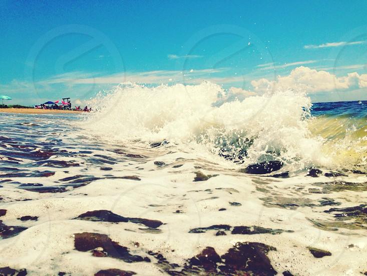 view of wave splash photo