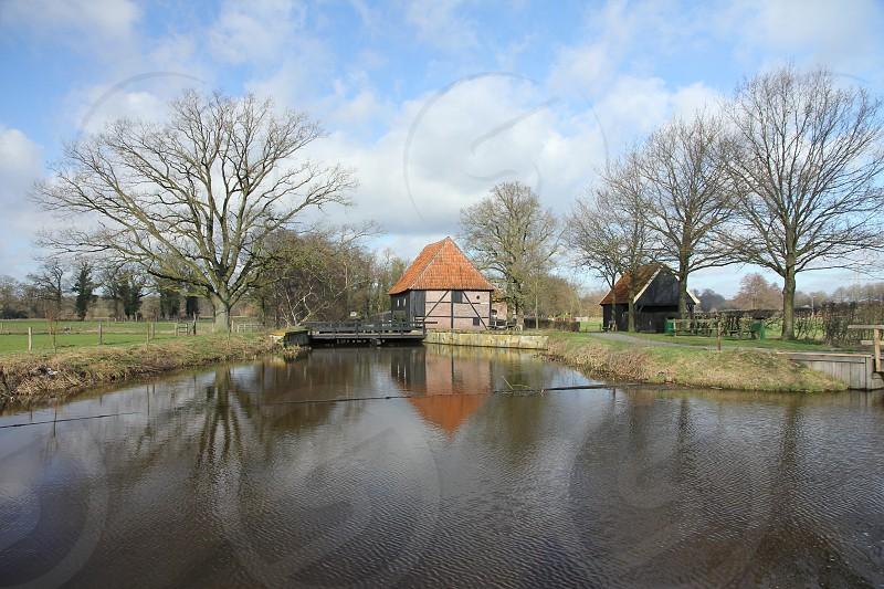 Oele Watermill in the East of the Netherlands. photo