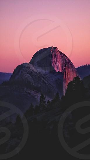 Color match sunset Yosemite  mood red orange  landscape  photo