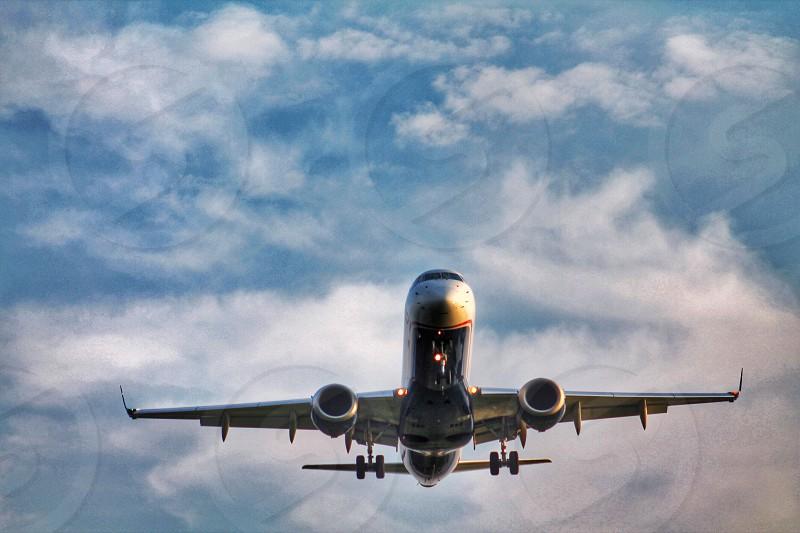 white passenger airplane photo