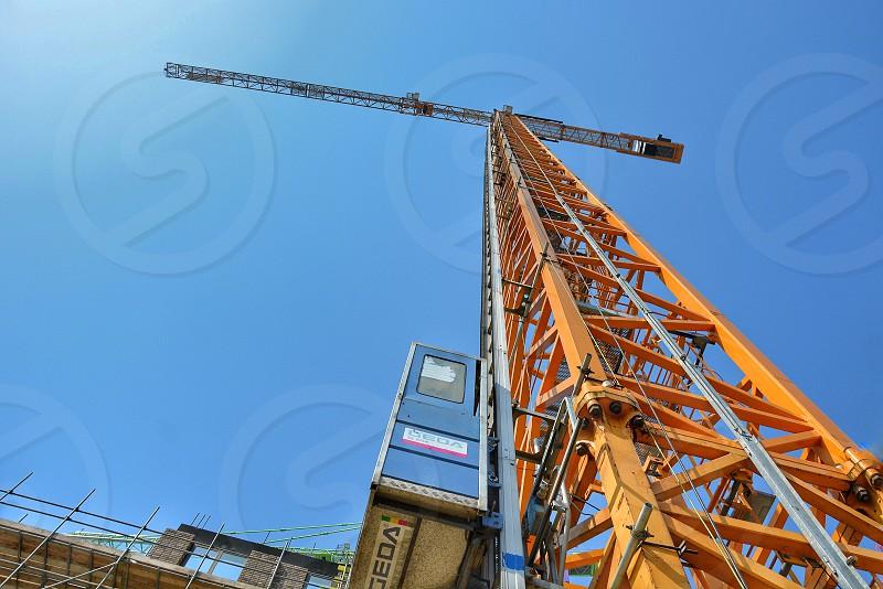 crane construction engineer architecture workshop construction sitearchitects industrial workspace building  photo
