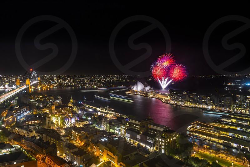 Sydney City - My favourite vacation spot. firework show photo