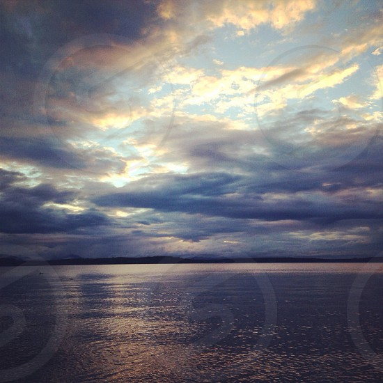 white and blue clouds photography  photo