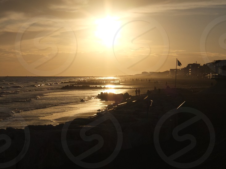 sea sunset in caorle italy photo