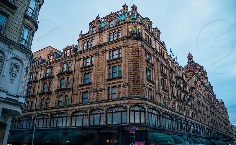 World renowned Harrods London Knightsbridge.  photo