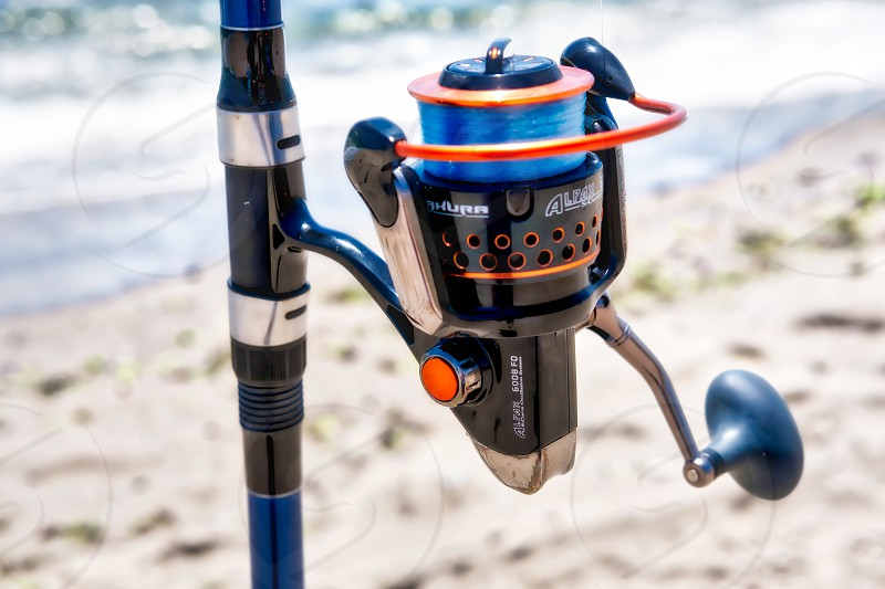 Reel and Rod on the Beach at Calahonda Spain photo