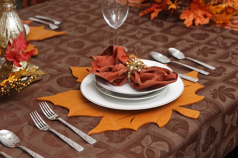 Table Setting autumn Thanksgiving photo